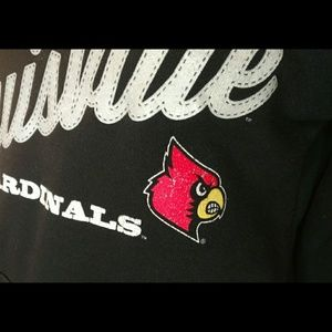 Soffe Tops - Soffe Louisville Cardinals black v neck hoodie
